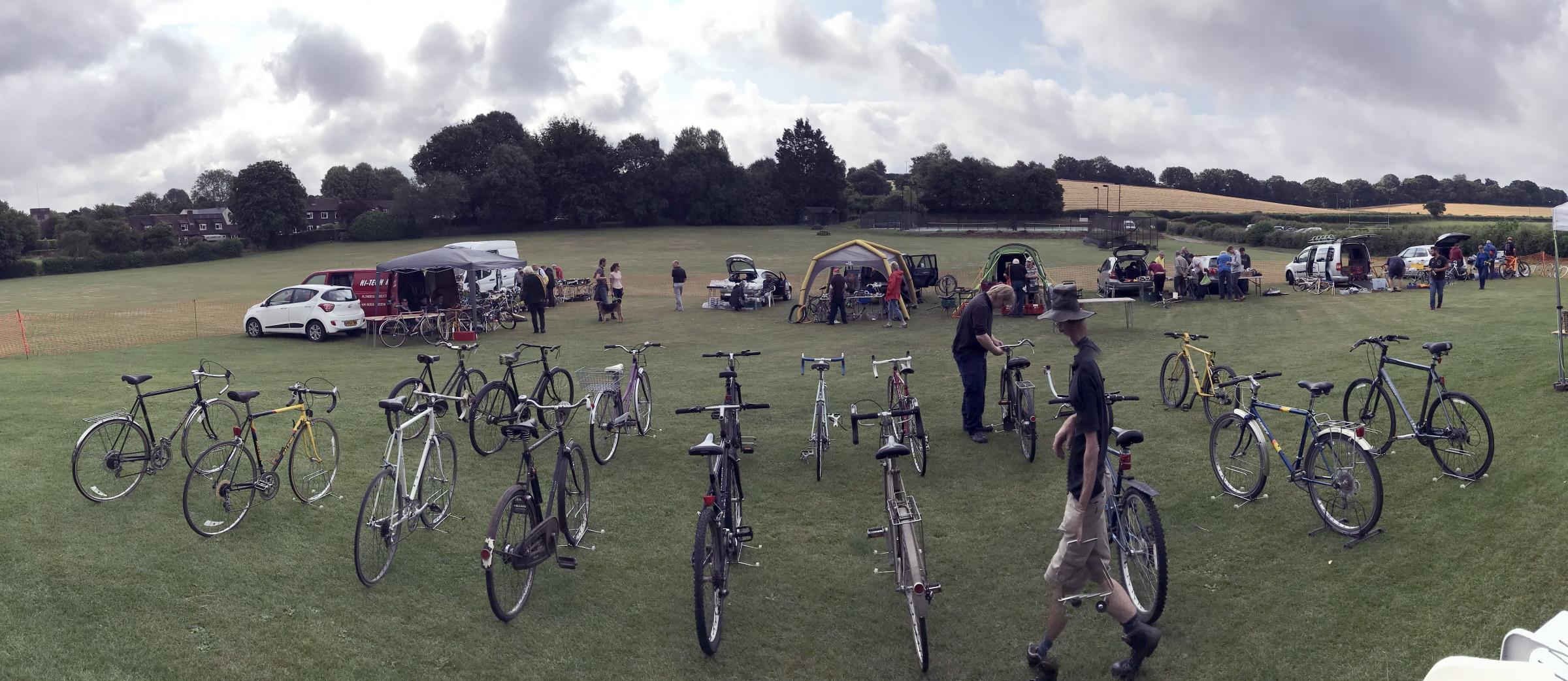 Cycle Jumble July 2019 at Cheriton Recreation Ground