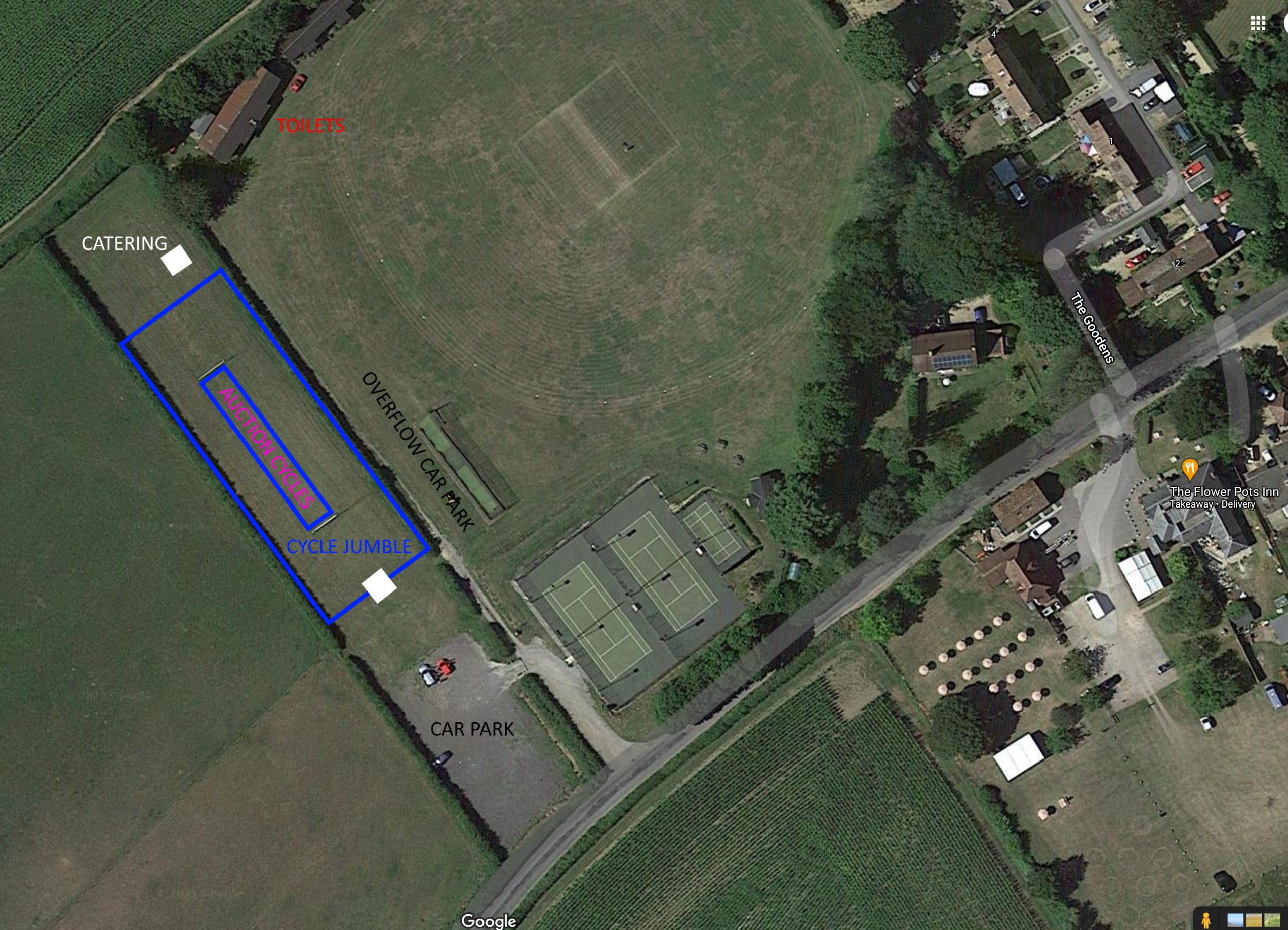 Cycle Jumble and Auction Site PLan
